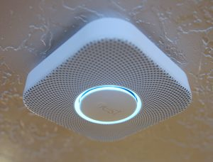 """A Nest smoke/carbon monoxide detector is installed in a home in Provo, Utah, January 15, 2014. Google Inc took its biggest step to go deeper into consumers' homes, announcing a $3.2 billion deal January 13, 2014 to buy smart thermostat and smoke alarm-maker Nest Labs Inc, scooping up a promising line of products and a prized design team led by the """"godfather"""" of the iPod.  REUTERS/George Frey"""